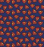 DC Comics - Superman Logo blau - Baumwolle - ab 0,5 Meter