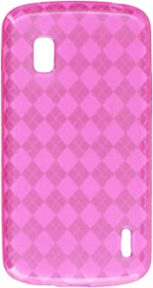 MyBat Argyle Candy Skin Cover for LG E960 (Nexus 4) - Retail Packaging 桃红色