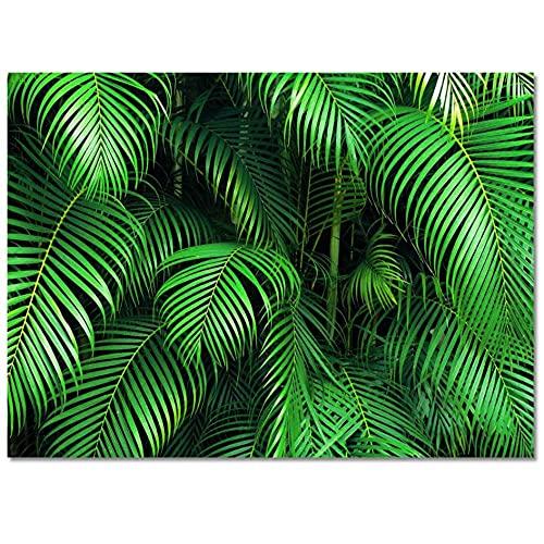 Hojas verdes Planta de la selva tropical Alfombra Alfombra de la puerta de entrada Sala de estar Alfombra de baño Alfombra larga de cocina Alfombras para la puerta principal Decoración del hogar-40x60