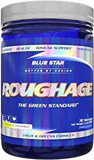 ROUGHAGE Amazing Greens Powder: Veggies and Fruit Superfood Greens Supplement with Antioxidants & Fiber - Includes Spiruli...