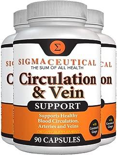 3 Pack of Varicose Vein Treatment - Leg Circulation Supplement - Diosmin Leg Vein Support - Circulation Vein Support - Healthy Leg Vein Supplement - 90 Capsules Each