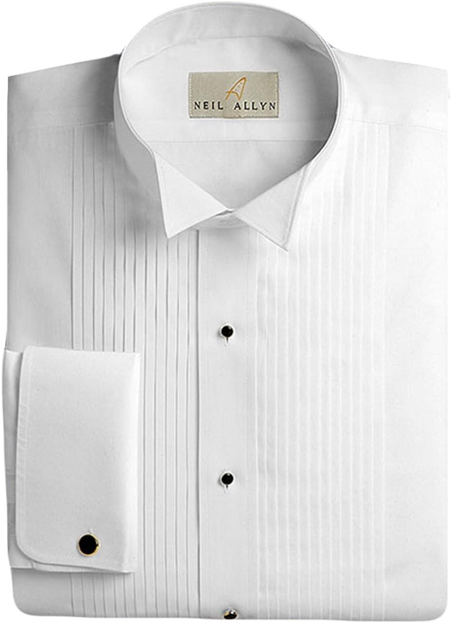 Neil Allyn Men's Max 55% Dedication OFF Tuxedo Shirt 100% Wing Pleat 4