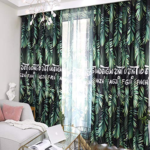 WBXZAL-Rideaux Nouveau Rideau de Tissu Fini Ton Rideau Chinois Simple Balcon Chambre Moderne fenêtre Flottante Salon fenêtre Flat fenêtre,200,G