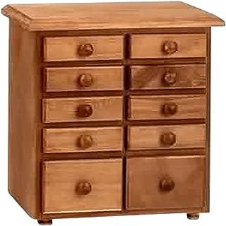 Renovators Supply Manufacturing Kitchen Spice Cabinet Drawer Organizer Small Pine Wooden Chest 10