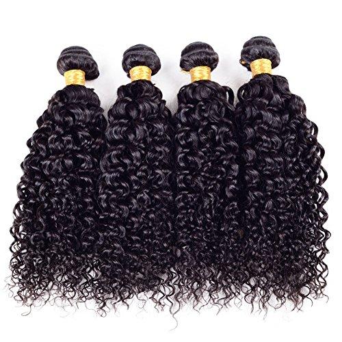 Ruiyu 8A+ Grade Unprocessed Brazilian Virgin Hair Water Wave Human Hair Weave Bundles Human Hair Extensions Hair Weft Natural Color 26 Inches Pack of 4