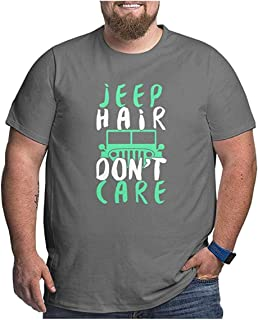 Ansjliea Jeep Hair Don't Care Men's Plus Size Tee Short Sleeve