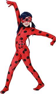 MYRISAM D/éguisement Miraculeuse Coccinelle Costume pour Filles Enfant Halloween Carnaval Ladybug Cosplay Robe Tutu /à Pois et Masque et Yoyo Sac Set 2-8 Ans