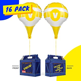 Gamer Birthday Party Supplies - Party Favor Boxes - Birthday Party Favors for Kids - Use as Supply Drop Box or Goodie Bags for Party Pack - Video Game Party Favors - Battle Royale Party Supplies (16)