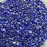 Mrjg Perlen AAA + 100g 5-7mm Natürliche Blaue Lapislazuli Quarz Kristall Poliert Kies Probe natursteine und mineralien Aquarium Steine Steinperlen