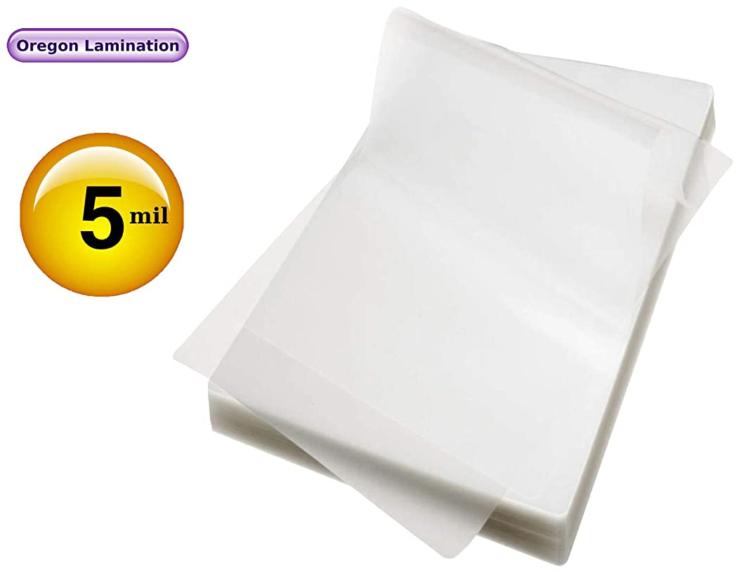 Jumbo Card Laminating Pouches 2-15/16 x 4-1/8 Laminator Sleeves 5 Mil Qty 100