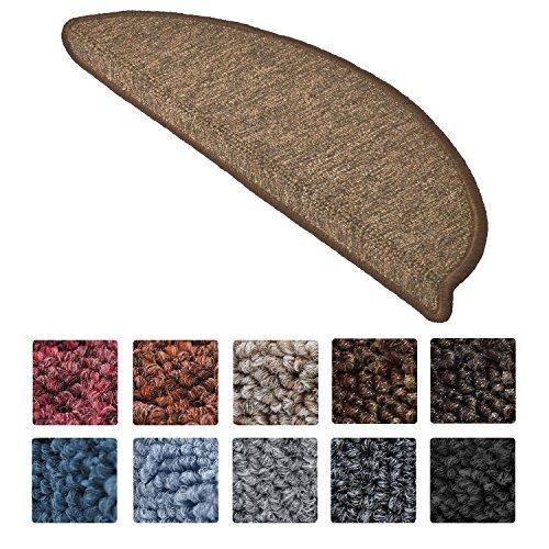 Beautissu Set da 15 tappetini gradini Scale ProStair - 55x15cm - passatoie gradini e scalini Singoli - Marroncino