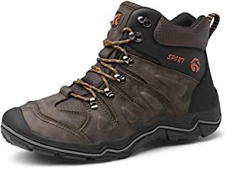 ailishbroy Men's Mid Trekking Hiking Boots Waterproof Outdoor Breathable Hike High Top Shoes Sneakers Oxfords
