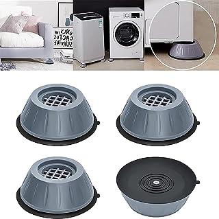 Tampons À Pied Machine À Laver, Support de Machine à Laver à Annulation des Chocs et du Bruit, Tapis antidérapant Stabilis...