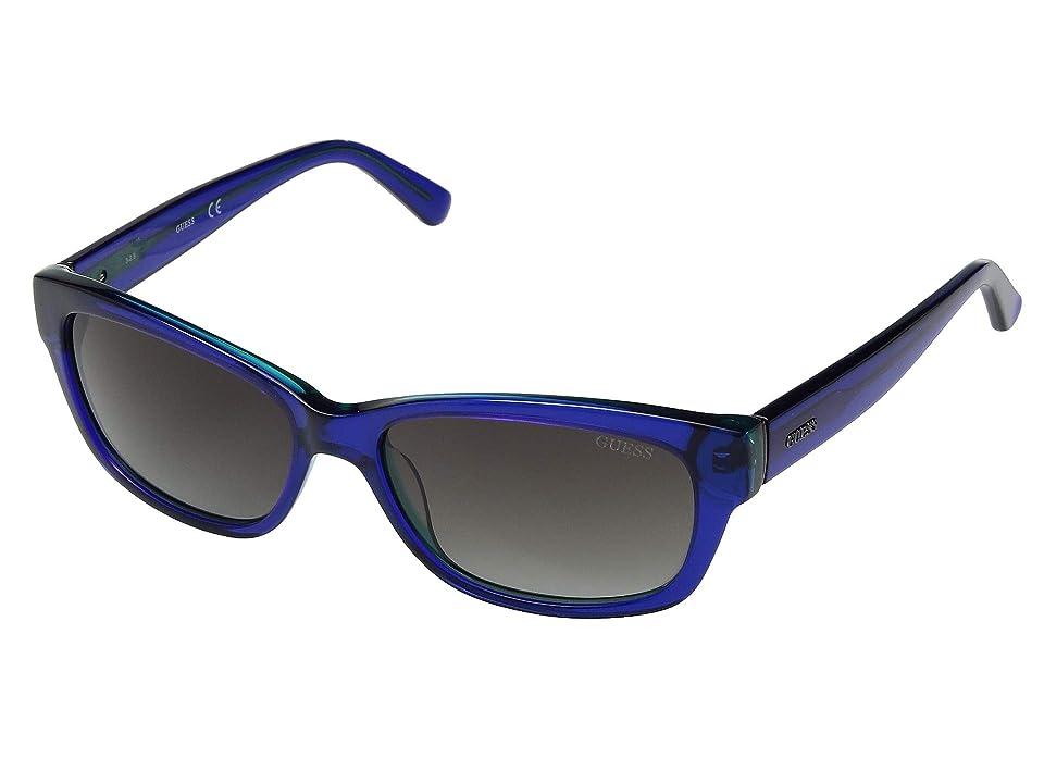 GUESS GU7409 (Shiny Blue/Blue Mirror) Fashion Sunglasses