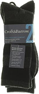 Wool Blend Boot Socks Cold Weather Comfort 2 Pair