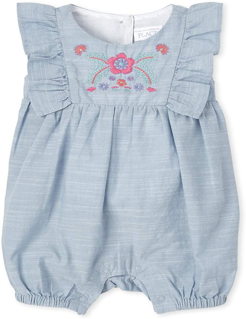 The Limited price Children's Place Baby Girls' depot Romper Chambray
