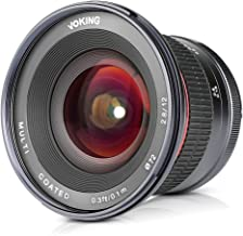 Voking 12mm F/2.8 Ultra Wide Angle Manual Foucs Prime Lens for Sony E Mount APS-C Mirrorless Cameras