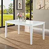 Better Homes and Gardens Bankston Brown Rectangle Honey Finish 6-Person Dining Table, 58.5L x 35.5W x 30H by Better Homes and Gardens (White)