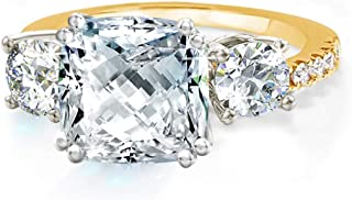Samie Collection Meghan Markle Engagement Rings Inspired by Royal Wedding: 3.67ctw 3 Stone Cubic Zirconia & Simulated Gems...