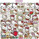 100 pcs Hello Kitty Autocollants Japonais Sanrio Kawaii Autocollants Esthétique Vinyle Autocollants pour Bouteilles D'eau Planche À Roulettes Ordinateur Portable Autocollants Imperméables Packs