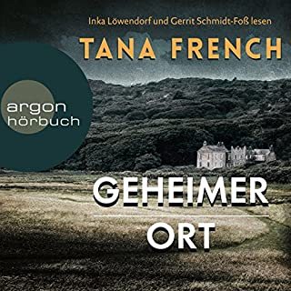 Geheimer Ort                   By:                                                                                                                                 Tana French                               Narrated by:                                                                                                                                 Gerrit Schmidt-Foß,                                                                                        Inka Löwendorf                      Length: 19 hrs and 18 mins     1 rating     Overall 2.0