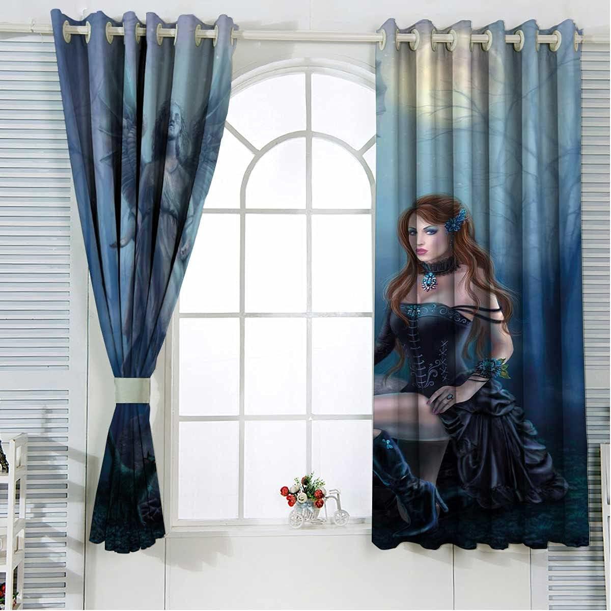 Washington Mall Vampire Blackout Curtain Panels 2 Inches Length mart Multicol Set 63