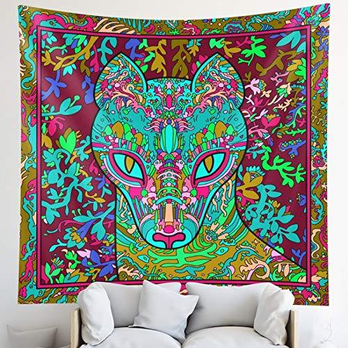Tapiz animal sagrado colgante de pared brujería hippie bohemia decoración mandala tapiz esterilla yoga dormitorio decoración hogar colchón 200x150cm JY-115