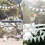 Demiawaking Schöne Spitze Wimpeln Girlande, Spitze Fahnen ,Wimpelkette für Hochzeit Dekoration Draußen Geburtstagsfeiern Party Dekoration (23)