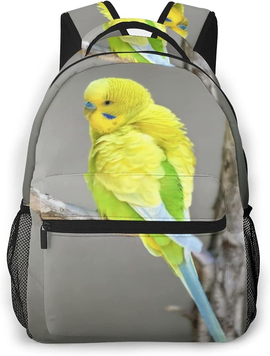 Backpack for Department store Beauty products Teens Men Women Storage Packet Parakeet Yellow A On