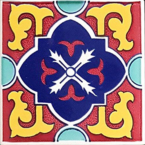 PIASTRELLA in Ceramica VIETRESE Decorate 10X10XH1, VIETRI Ceramic Tile (Ordine Minimo 5 Pezzi Anche l'uno Diverso dall'altro)