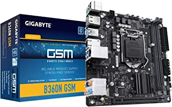GIGABYTE B360N GSM (LGA1151/Intel/B360/CNVi 802.11ac Wave2 2T2R Wi-Fi/Mini ITX/DDR4 Motherboard)