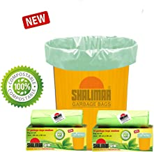 Shalimar Compostable/Biodegradable Garbage/Trash/Dustbin Bag, Medium Size 48 x 56 cm 3 Rolls, 45 Bags (Green)