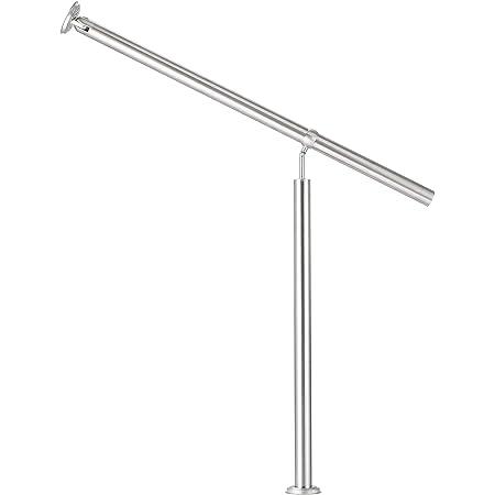 f/ür drinnen und drau/ßen Treppen Balkon Br/üstung 100cm, Leichte Holzmaserung MCTECH Gel/änder Edelstahl Handlauf Treppengel/änder Wandhandlauf Wandhalter