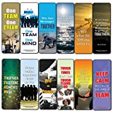Creanoso Inspiring Teamwork Bookmarker Cards (30-Pack) – Stocking Stuffers Gift for Men & Women, Adults – Awesome Bookmark Collection – Business Gifts – Employee Rewards Incentives