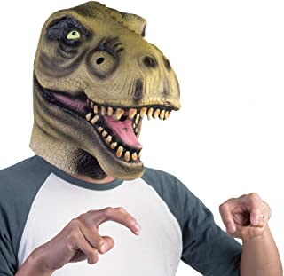 MDI Australia T-Rex Madheadz Latex Party Mask Costume, Gree/Black