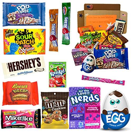 Süßigkeiten Box USA   Kennenlernbox mit 12 beliebten Süßigkeiten aus Amerika   Geschenkidee für Weihnachten und Geburtstage…