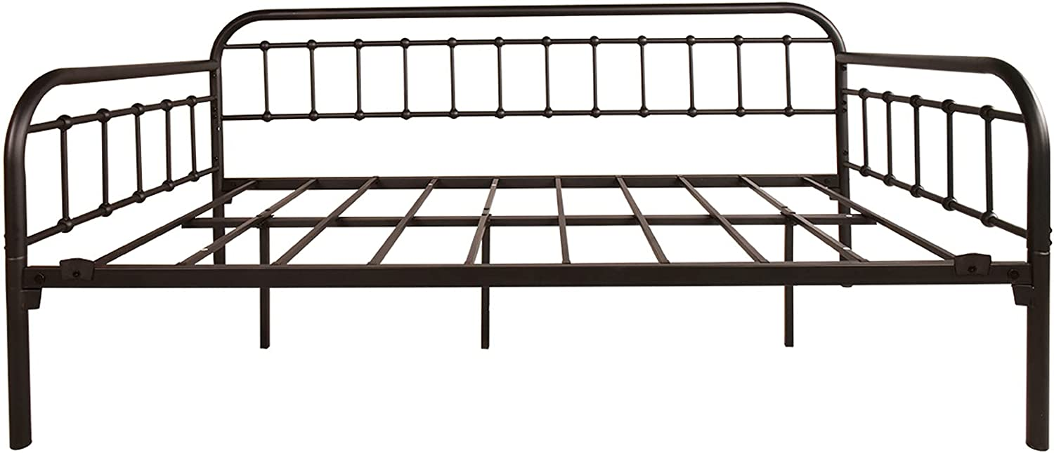 Topics on TV Metal Daybed Frame Twin Size favorite Platform Needed Spring with Box No