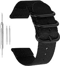18-24mm NATO Nylon Watch Band Superior Men's Wristband Premium Sturdy Exotic Nylon Watch Straps Replacement Ballistic Nylon Watch Band Strap Replacement for Men Braided