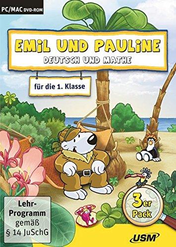 Emil und Pauline 3 in 1 Bundle - Deutsch und Mathe für die 1. Klasse: Emil und Pauline auf dem Hausboot 2.0, ...in der Burg 2.0, ...auf Madagaskar