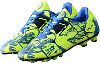 Hopscotch Boys PU Lace Up Football Shoes in Green Color