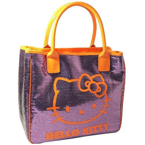 Hello Kitty Grand sac à main sequins pourpre Camomilla