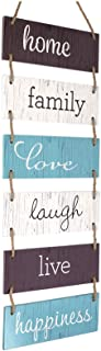 Excello Global Products Large Hanging Wall Sign: Rustic Wooden Decor (Home, Family, Love,..