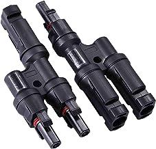 LEDKIA LIGHTING MC4 2/1 multicontact-stekker voor kabels van 4-6 mm² zwart
