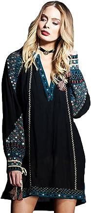 99cab1fc79e Gypsy05 Women s Embellished Raglan Mini W  Tassel Dtl Faye Black