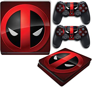 Deadpool Symbol Emblem 2 Video Game Vinyl Decal Skin Sticker Cover for Sony Playstation 4 Slim