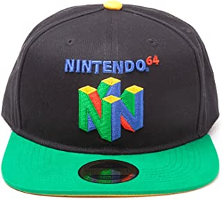 Nintendo Original N64 Logo Snapback Baseball Cap, One Size | Multi-Colour