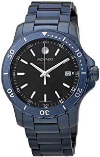 Series 800 Black Dial Blue Ion-Plated Men's Watch 2600139
