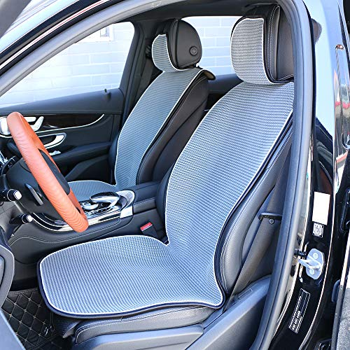 2 Front Car Seat Covers Breathable Ice Silk Universal Seats Cushion Mesh Cool Gray Delaware