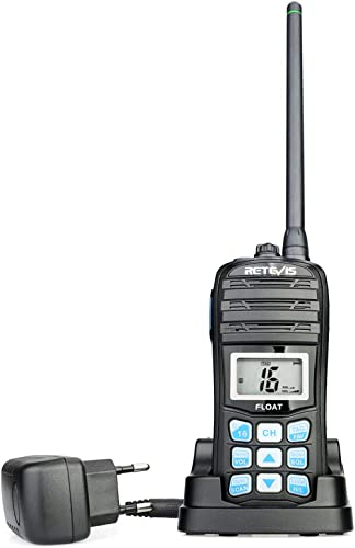 Retevis RT55 Walkie Talkie Marino IP67, 88 Canales, Radio Portátil Impermeable con Vibración, Flotador, Walkie Talkie...