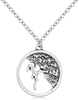 Antique Silver Rock Climber Necklace Adventure Gifts for Women